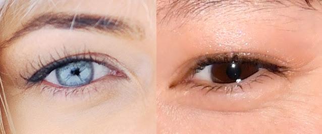 Левый глаз у русской девушки (слева) и правый глаз у японки (справа) [фотоколлаж]