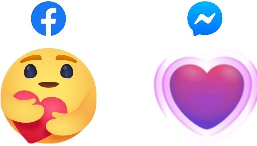 memunculkan emoji reaksi care peduli facebook