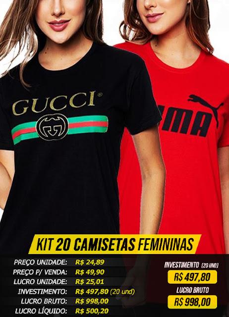 Camisetas Femininas Atacado