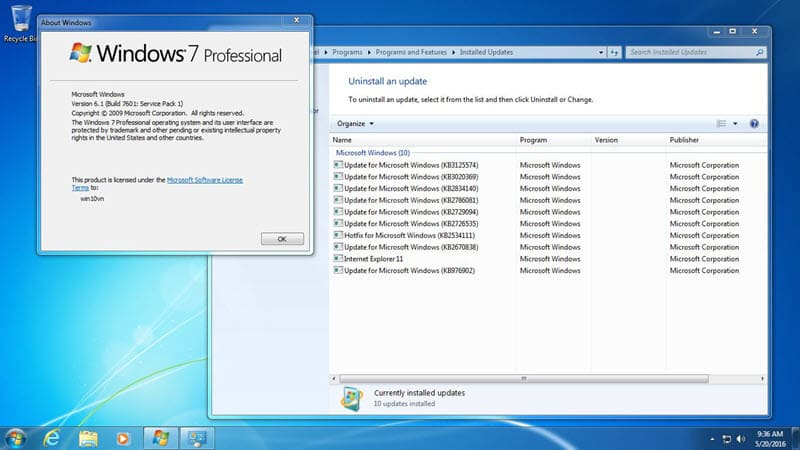 Windows 7 AIO 11 trong 1 tích hợp Rollup KB3125574