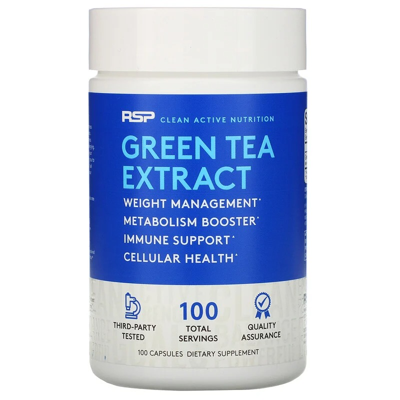 RSP Nutrition, Green Tea Extract, 500 mg, 100 Capsules