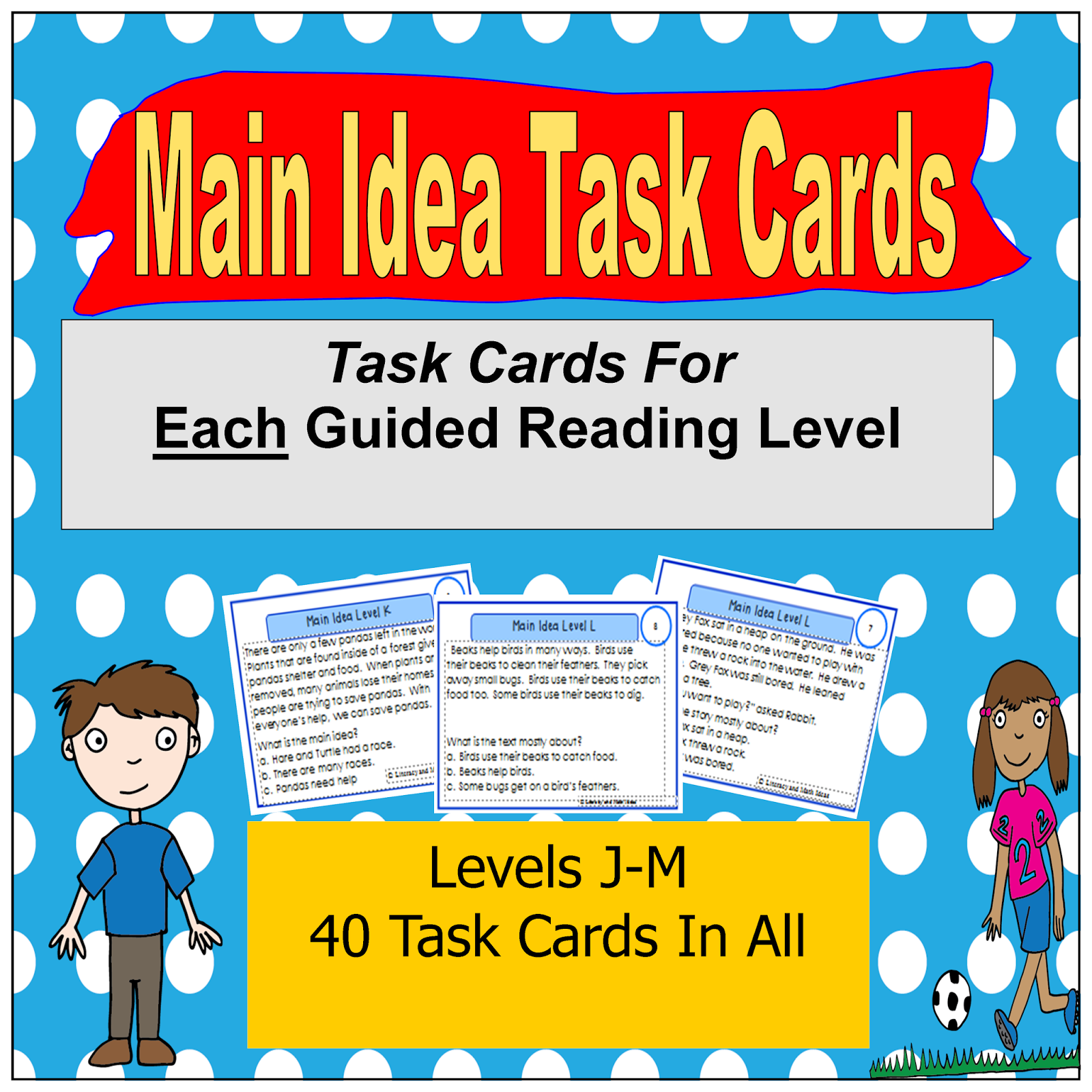 Literacy & Math Ideas: Task Cards That Are Organized By