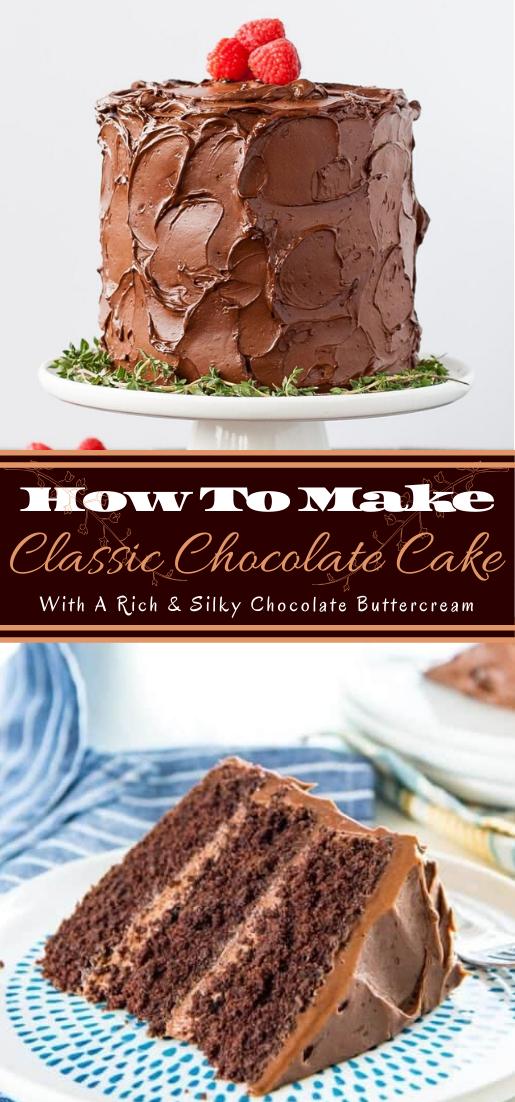 Classic Chocolate Cake #desserts #cakerecipe #chocolate #fingerfood #easy