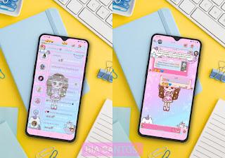 Bonequinha Kawaii Theme For YOWhatsApp & RA WhatsApp By Bia