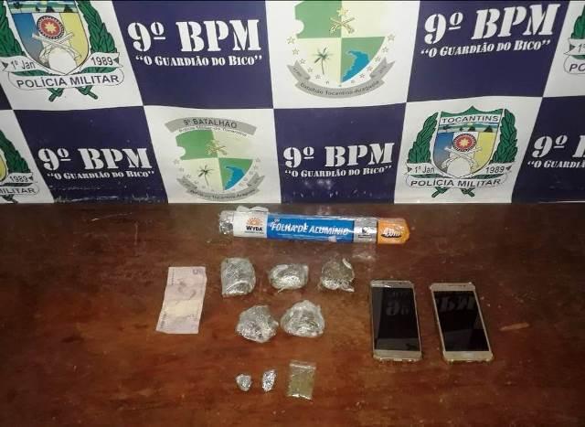 PM prende dois homens acusados de envolvimento com o tráfico de drogas. As prisões ocorreram em Augustinópolis e Sampaio