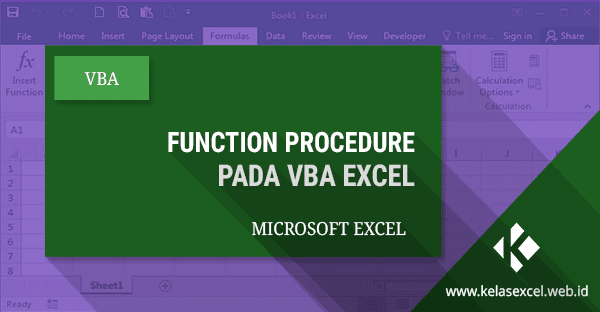 Function Procedure Pada VBA Excel #08