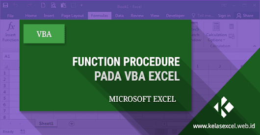 Function Procedure Pada VBA Excel