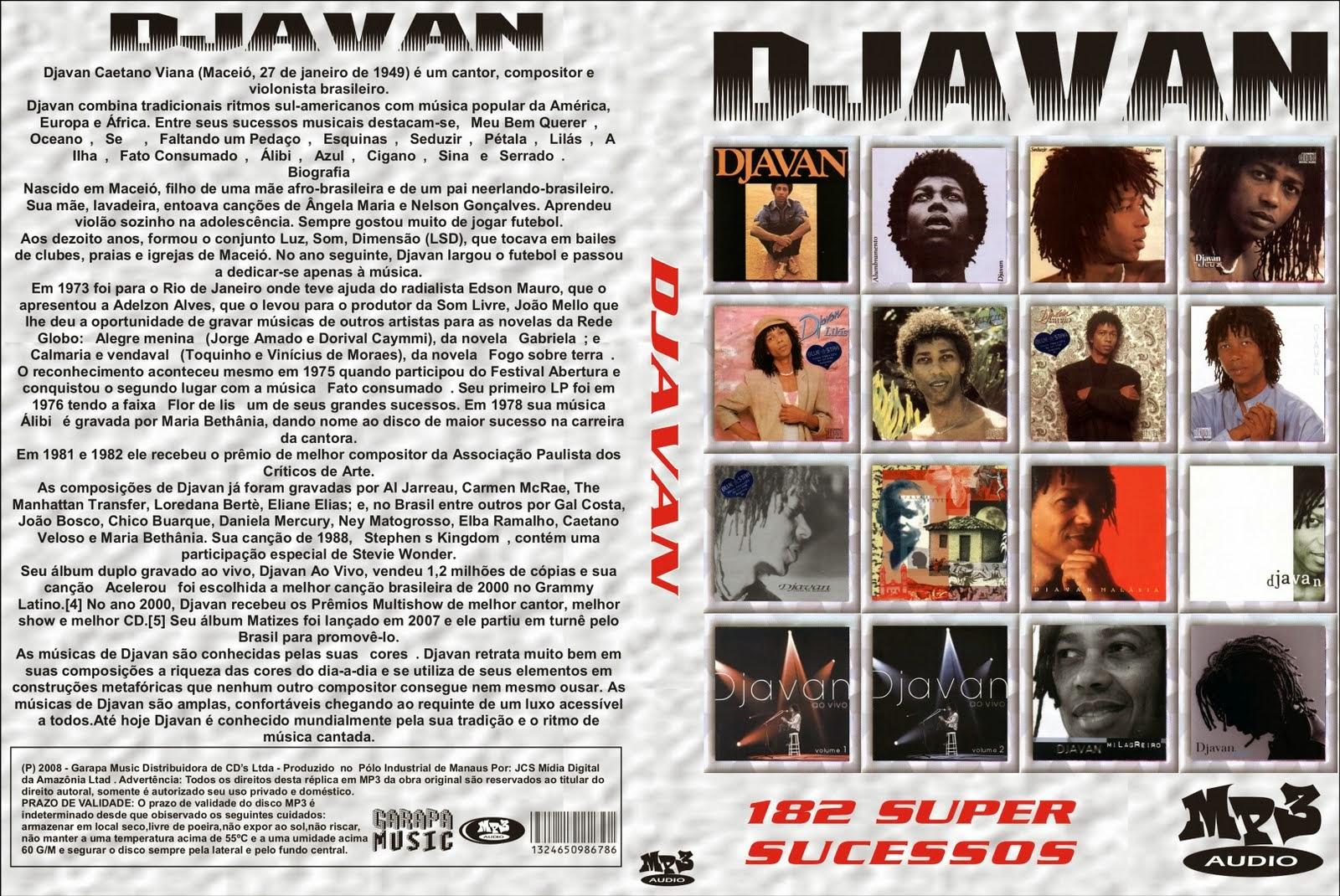 Djavan ao vivo volumes 1 e 2 (cd, album) | discogs.
