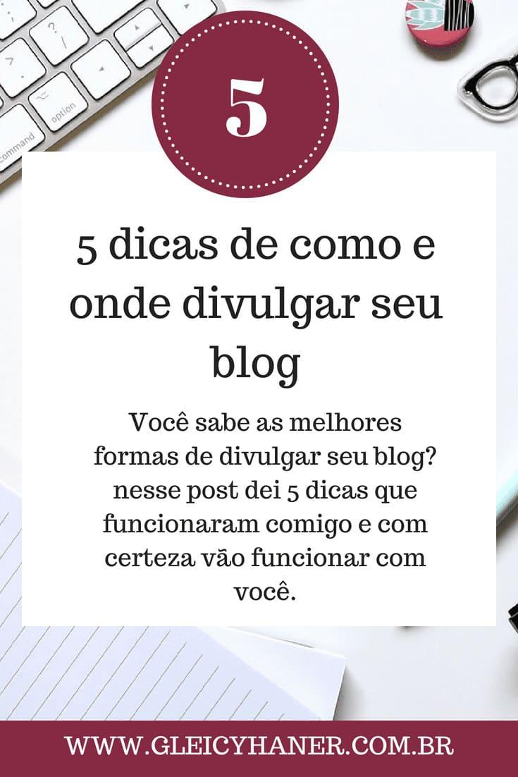 como divulgar o blog