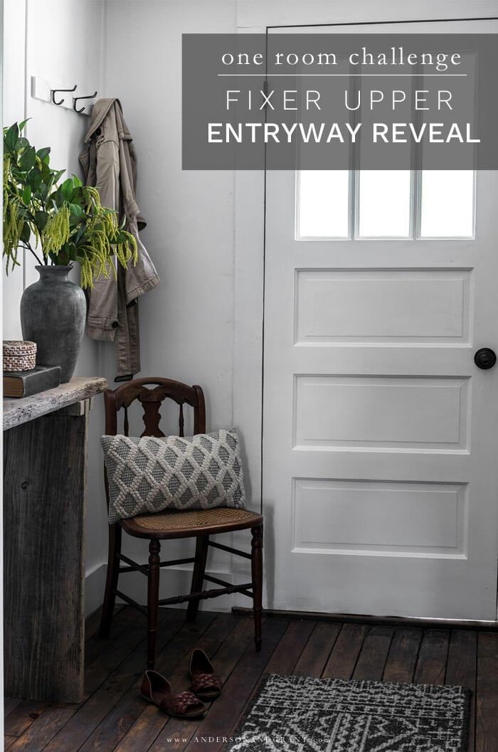 Fixer Upper Entryway Reveal