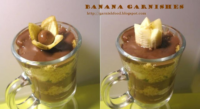 how to carve flower of banana