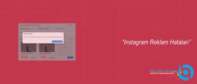 Instagram Reklam Hataları