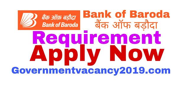 Application for Bank of Baroda Recruitment 2019: 100 Senior Relationship Manager | Gov Job 2019 governmentvacancy2019.com