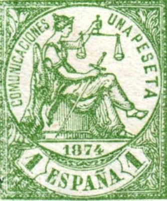 Alegoría de la Justicia, sello de 1874