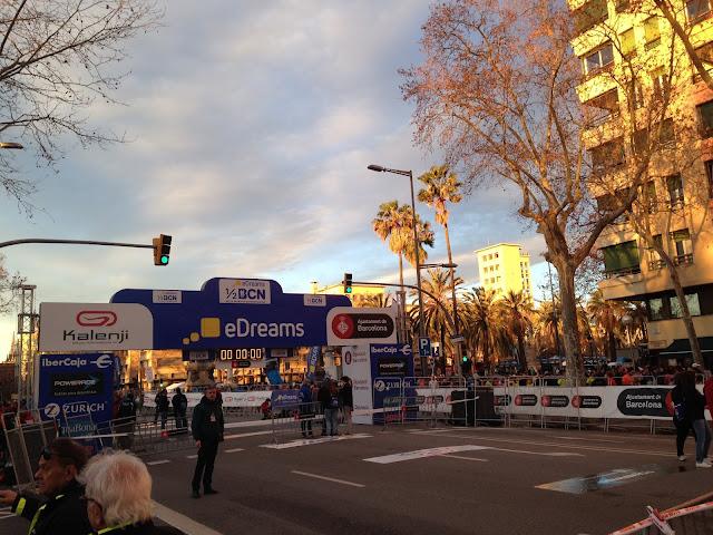 Arco de salida Mitja Marató Barcelona
