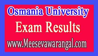 Osmania University MCA (CDE) August 2016 Exam Results
