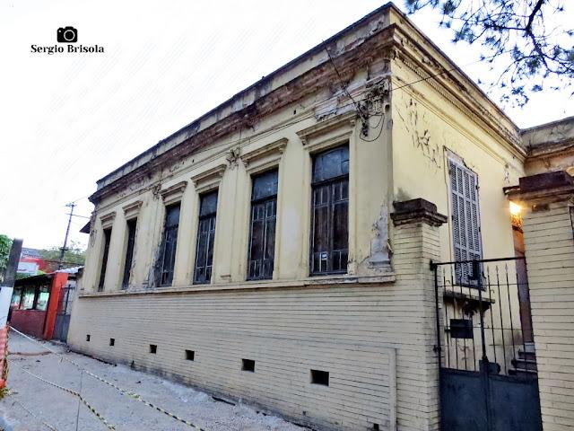 Vista ampla da antiga residência do Maestro Furio Franceschini no Ipiranga - São Paulo