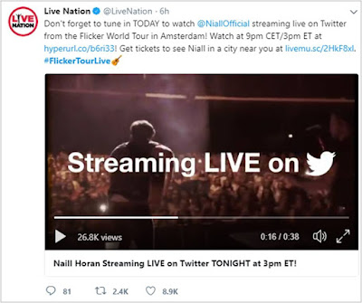 Niall Horan streaming live on Twitter TONIGHT