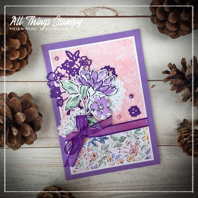 Hand Penned Petals Stampin Up card