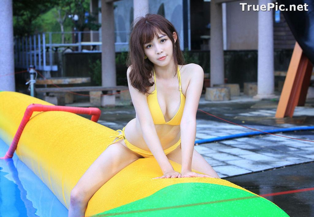Image Taiwanese Model - Ash Ley - Yellow Bikini at Taipei Water Museum - TruePic.net - Picture-58