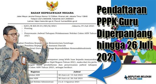 Pendaftaran PPPK Guru Diperpanjang hingga 26 Juli 2021, Tiga Alasan Ini Dasar Panselnas