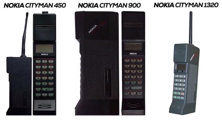 Nokia phones in the year 1987