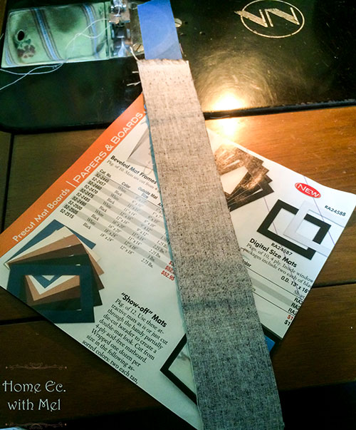 starting a string quilt block
