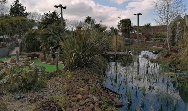 Jungle Adventure Golf at Parkdean Vauxhall Holiday Park. Photo by Sophia and Karl Moles, May 2021