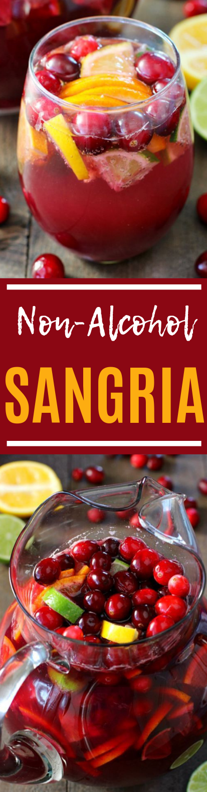 Non-Alcoholic Sangria #party #drinks