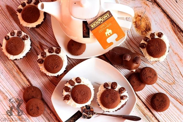 Wegańskie, buraczane muffiny czekoladowe – misiowe łapki  (bez glutenu, laktozy, cukru białego, wegańskie- muffiny)