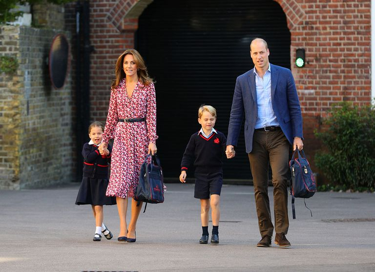 Kate Middleton charms in Michael Kors on Charlotte's first day of school