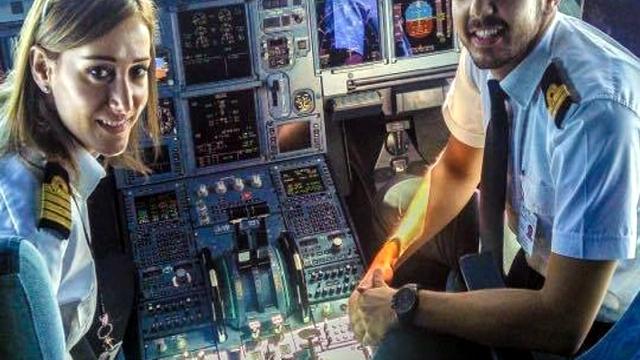 رولا حطيط أول سيدة تقود طائرة في لبنان