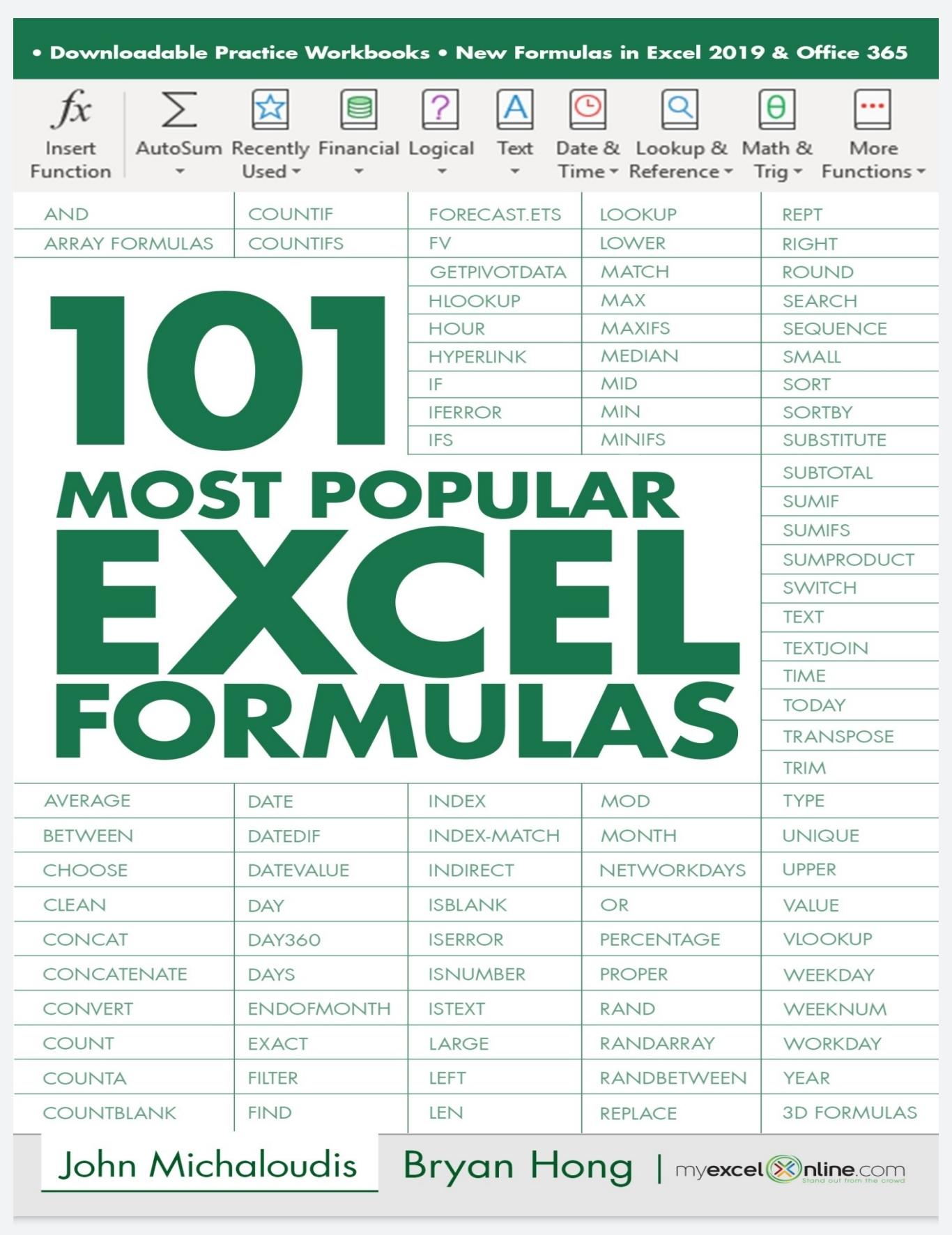 20 Most Popular Excel Formulas 20 PDF Free   KING OF EXCEL