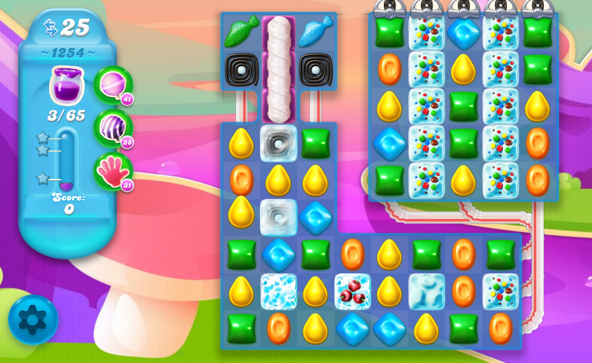 Candy Crush Soda Saga level 1254
