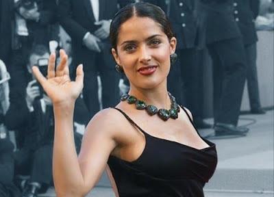 salma hayek in an event
