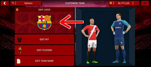 Cara Mengganti Logo Tim di Dream League Soccer