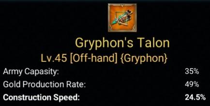 Gear Laju Pembangunan Terbaik - Gyrphon's Talon