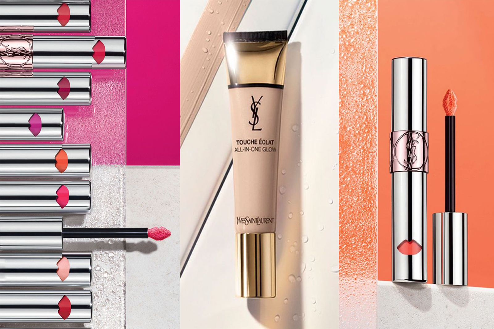 ysl nouveautés teint et lèvres printemps 2018 touche eclat water foundation all in one volupte colour balm
