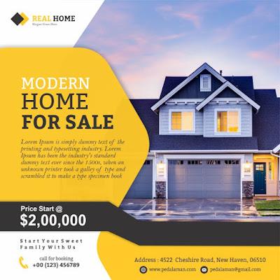Membuat flyer real estate