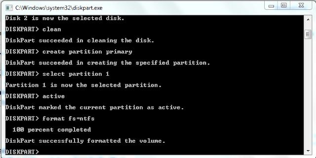 Cara Membuat Flashdisk Bootable Tanpa Menggunakan Software