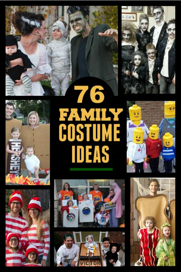 50+ fun & creative themed Halloween costumes for the family #familyhalloweencostumes #halloweencostumes #familycostumes #halloween #growingajeweledrose
