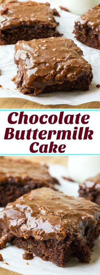 Chocolate Buttermilk Cake With Frosting
