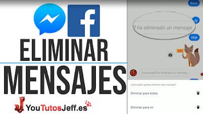 como eliminar mensajes de messenger facebook