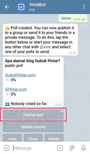 publish poll bot vote telegram