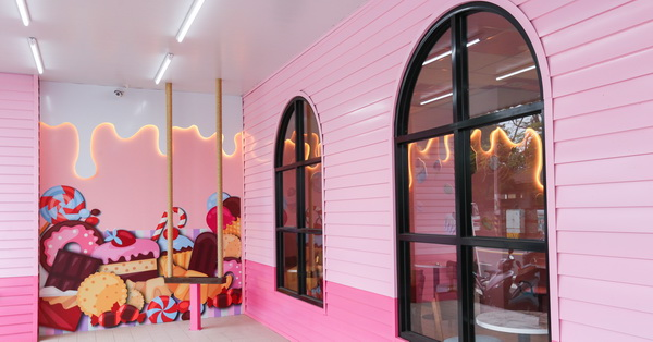 台中后里|7-11后糖門市|全台第一家粉紅糖果屋統一超商7-11|特色超商