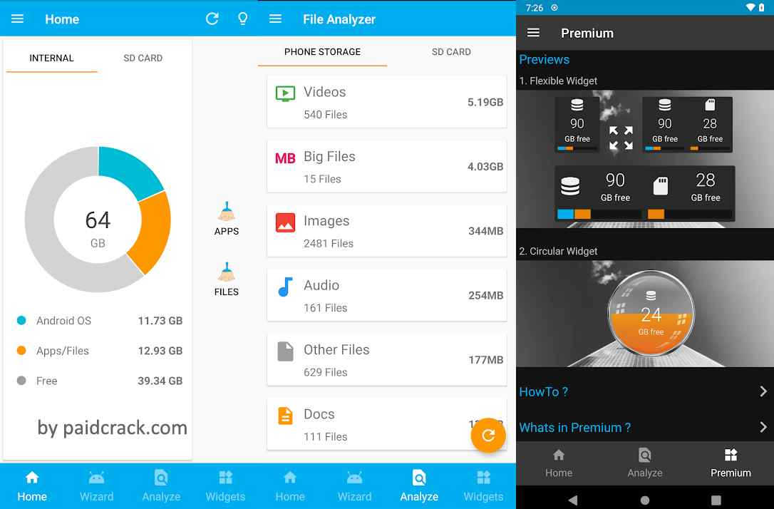 Storage Space Premium Mod Apk is a helps to running out of memory storage space and want to clear up some space.