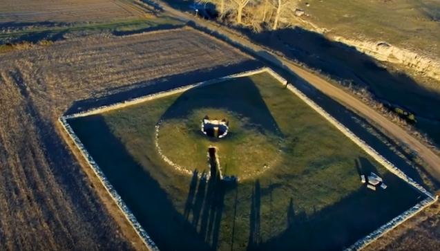 Vista aérea del Dolmen de La Cabaña en Sargentes de la Lora (Burgos). Foto: Ayuntamiento de Sargentes de la Lora