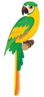 Guacamaya Maracaná de Color Verde