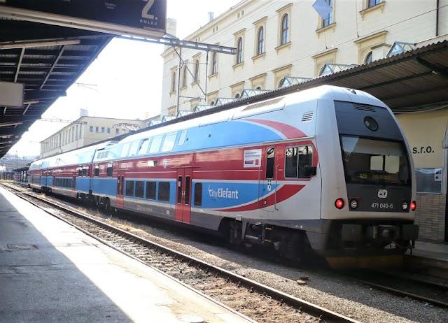 treno alla stazione di Praga