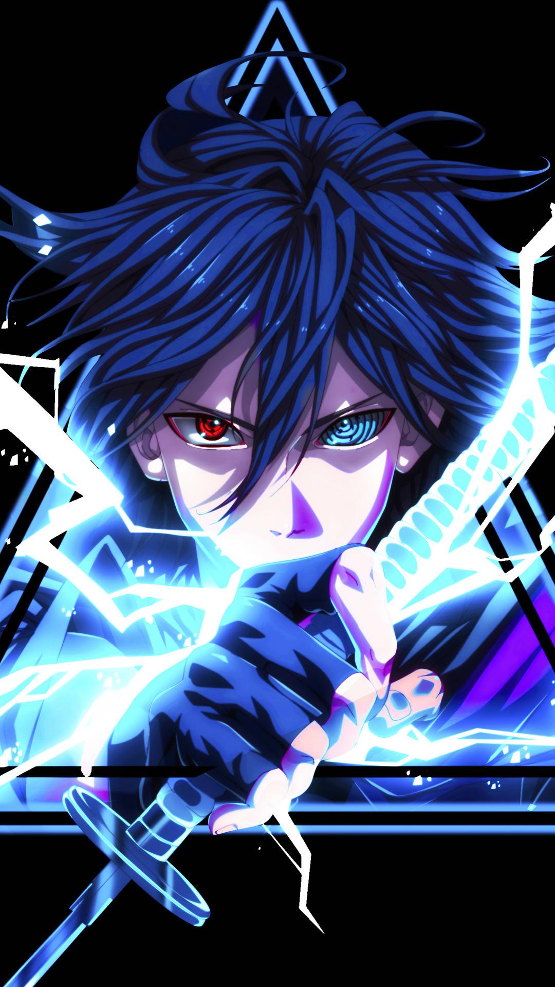 Sasuke Uchiha Sharingan Rinnegan Eyes Lightning Katana